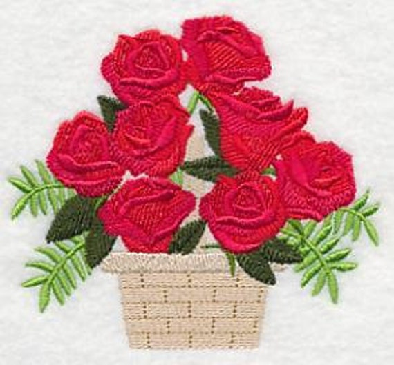 Rose Embroidered Towels: Roses Towel Rose Towel Embroidered Towel Flour Sack