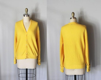 vintage FRENCH'S MUSTARD knit Cardigan sweater