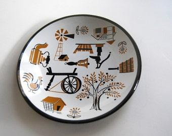 Mid Century Decorative Plate