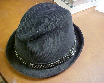 Stetson men's hat in charcoal grey corduroy size 6 7/8