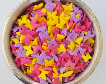 Butterfy Confetti Sprinkles  4 ounces Cupcake Decorations