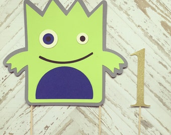 Monster Cake Topper- smash cake, first birthday