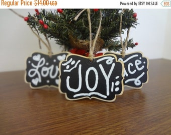 SALE- 4 BLANK Chalkboard Christmas Ornaments, Christmas Tags, Christmas Stocking Labels - Set of 4- Stocking Stuffer, Gifts under 15, Hostes