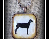 Show Sheep Glass Dome Image Pendant With Chain