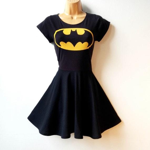 Batman batgirl dress plus size batman cosplay fit and flare for Rockabilly outfit damen