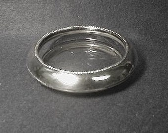 Sterling Silver and Glass Coaster F.M. Whiting & Co.