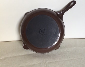"Cousances Cast Iron Enamel 11"" Pan Mid-Century"