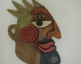 SPIKE Abstract Ceramic Mask Picasso inspired