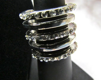 5 stacked rings in one - Size 7 and one-half