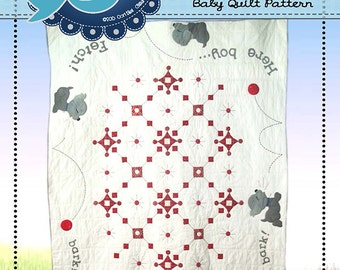 Playful Puppies quilt Pattern  from Chitter Chatter Designs