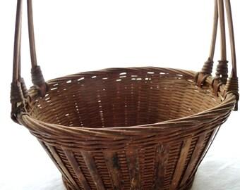 Vintage Basket, Unique Vintage Basket, MOM, Old Vintage Basket, Basket with Handle, Small Basket, Vintage Home Decor, Vintage Collectible