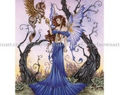 LAST ONES Gryphons Egg Fairy 8.5x11  PRINT by Amy Brown