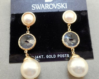 NOS Swarovski Earrings - MOC