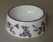Purple Violet Spill Proof Pet Bowl Large