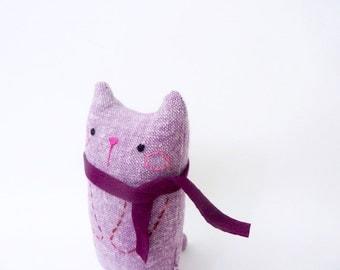 Desk Toy, Cat Doll, Art Doll, Cat Miniature, Stuffed Doll Cat, Small Plush Cat