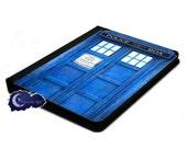 Blue Police Call Box iPad Portfolio Covers