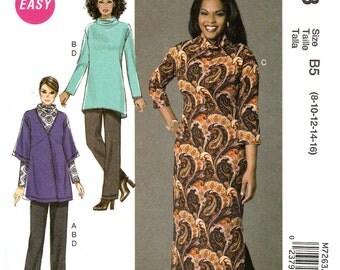 Plus Size Ladies' Cardigan, Top, Dress, and Slacks - McCalls 7263 - New Sewing Pattern, Sizes 18W, 20W, 22W, 24W