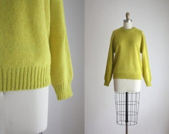 vintage chartreuse sweater