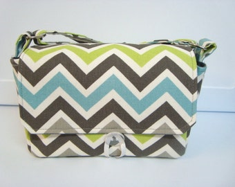 Super Size Coupon Organizer / Budget Organizer Holder Box - Attaches to Your Shopping Cart - Storm Chevron Zig Zag