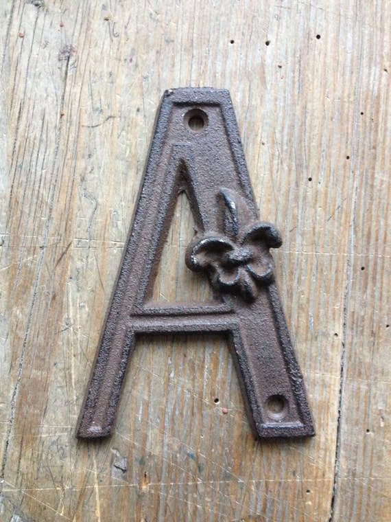 wrought iron letter e cast iron letter a 233