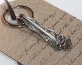 SALE SALE SALE Spoon Keychain, Spoon Key Ring, Spoon Key Chain, Berwick aka Diana Pattern, Oops Sale