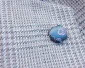 Blue Boutonniere Silk Boutonniere Mens Lapel Pin Button Lapel Pin Blue Silk Button Pin Custom Lapel Pins Men Gifts For Men Lapel Button Pin