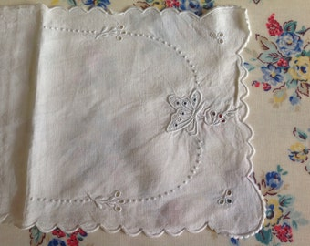 Vintage Whitework Cutwork Handkerchief Case