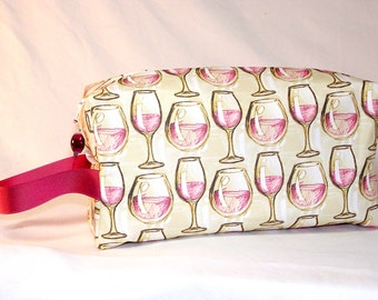 PREORDER Wine Glasses Project Bag - Premium Fabric