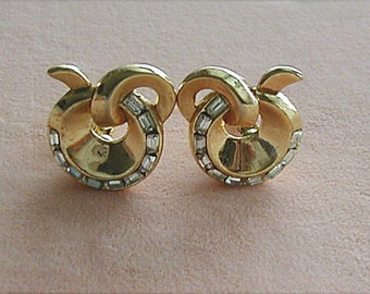 Crown Trifari Alfred Philippe Clip Earrings