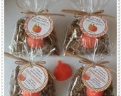 20 Pumpkin Soap Party Shower Favors (Tags Included)