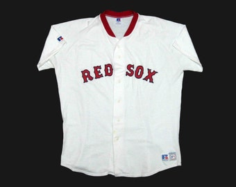 Vintage Boston Red Sox Jersey by Russell. Circa 1970's.