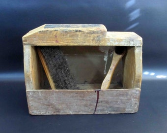 Vintage Handmade Wooden Shoe Shine Caddy