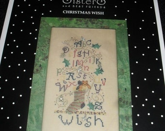 Cross Stitch Chart / Pattern - Christmas Wish- Sisters and Best Friends