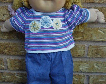 "16"" Cabbage Patch Doll Clothes, Skirt, Shirts, Jeans, 1980's"