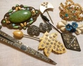 Vintage Costume Jewelry For Repair Altered Art Upcycle Repurpose