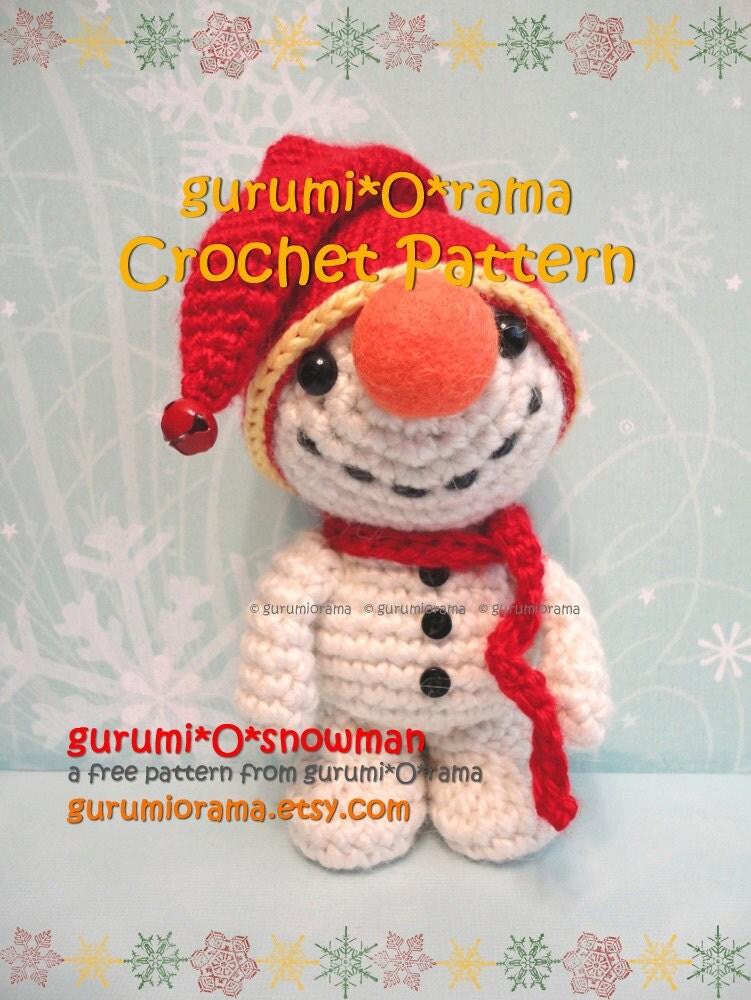 amigurumi Snowman crochet pattern stuffed plush snowman