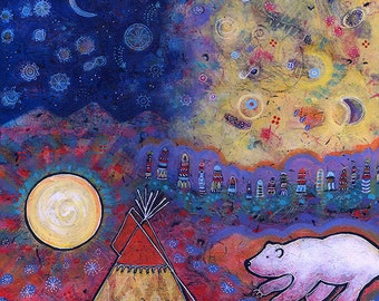 Colorful Archival Paper Print - Spirit Bear Awakens the Sun