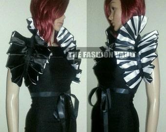 Mardi Gras Goth Burlesque shoulder collar bolero shrug  Ringmaster Cosplay Circus