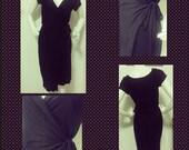 Sample SALE: Classic Black Wrap Dress (sample size S, 4)