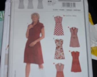 Burda 8075 Women Fitted Dress Size 12-24   Uncut New