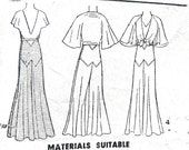 Early 30s Pictorial Review Printed Pattern 5668 Beach Pajamas and Tie Jacket 1930s wide legged pants rare raglan deco Vintage Sewing Pattern