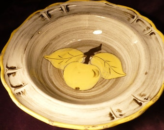 Vintage Santa Anita Ware Bowl Yellow Apple by Vreni