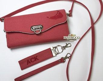 ACK Clutch Wallet, Brynwood Wallet, Nantucket Red Fabric Wallet, Nantucket Clutch Wallet