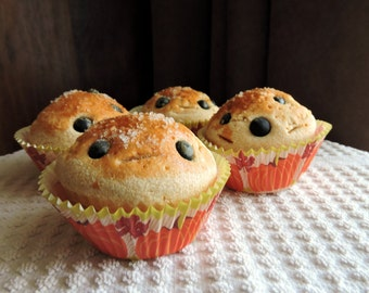 4 Fake Muffins Faux Food Staging Photo Prop Home Decor