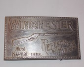 Vintage Winchester Rifle Belt Buckle