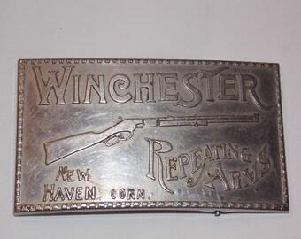 Vintage Winchester Rifle Belt Buckle