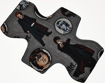 Moderate Core- Harry Potter Reusable Cloth Overnight Pad- WindPro Fleece 10.5 Inches (26.5 cm)