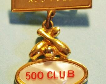Vintage ABC Bowl 500 Club Bowling Award Pin
