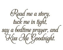 ON SALE Read Me a Story Baby Nursery Vinyl Wall Decal - Nursery Poem Quote Saying Bedtime Prayer BA0055
