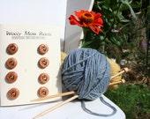 SALE! 8 Honeybee Buttons- Juniper Wood- Handmade Wooden Buttons- Knitting, Sewing, Craft Buttons